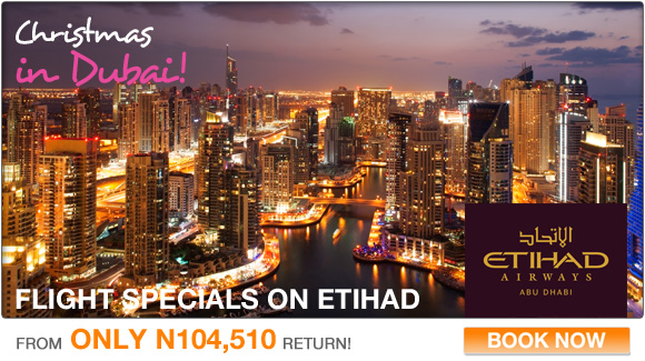 Lagos to Dubai on Etihad