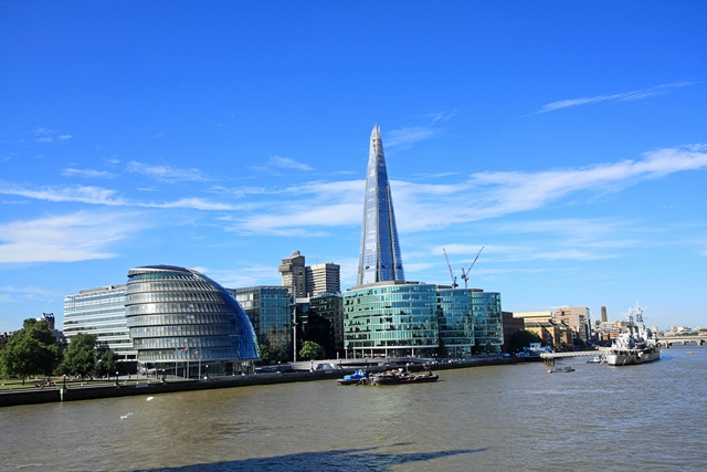 The Shard building in London during the day
