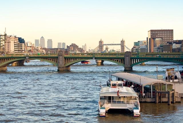 Thames Clipper Boat in London