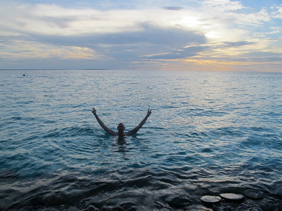 Jonty from Travelstart enjoys a swim in the warm Zanzibar sea