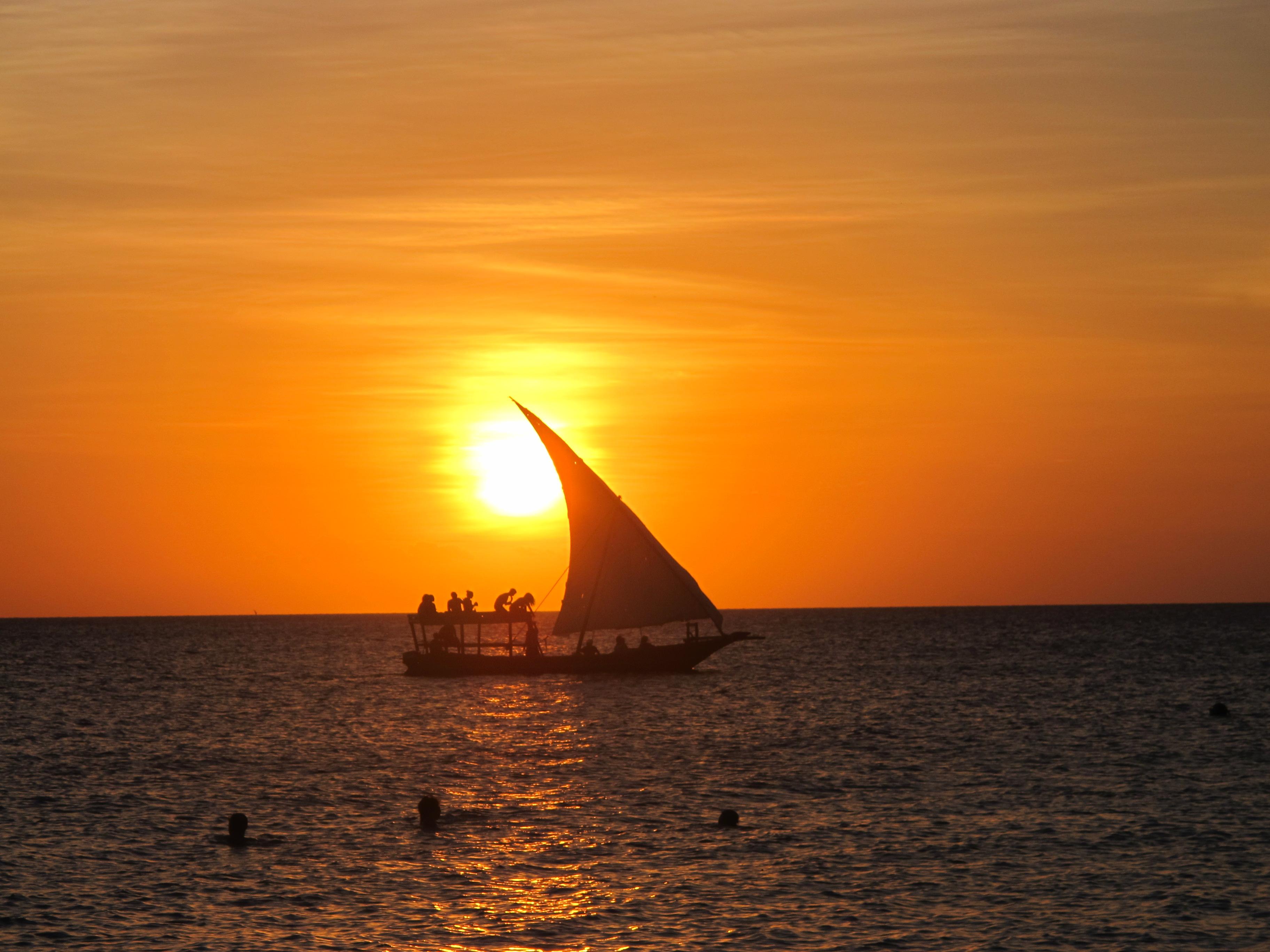 A Zanzibar Dhow at Sunset