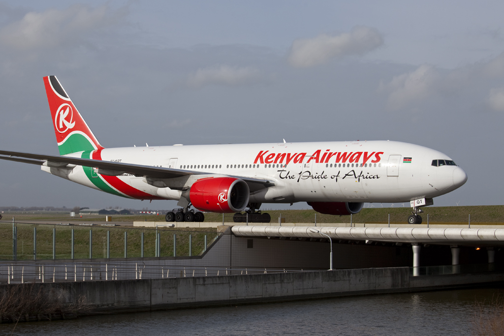One of Kenya Airways aircrafts