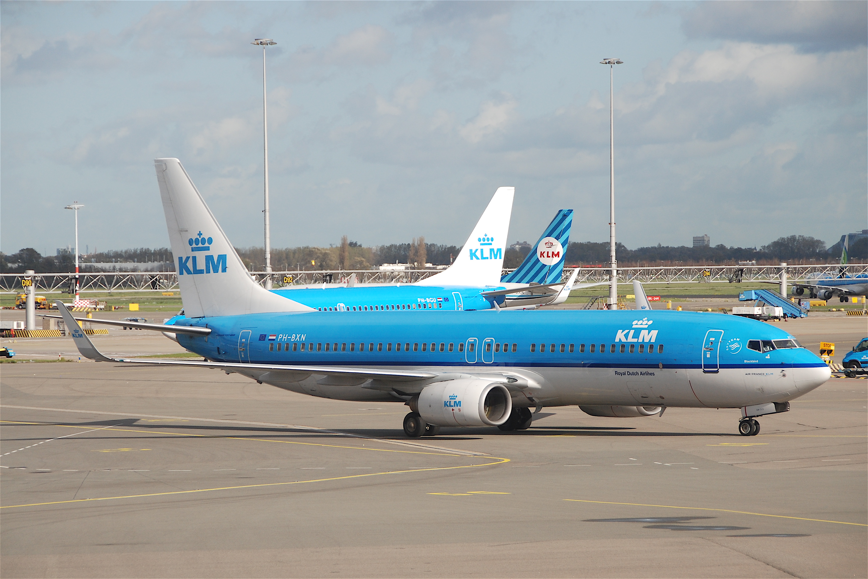 A KLM aircraft on the runway