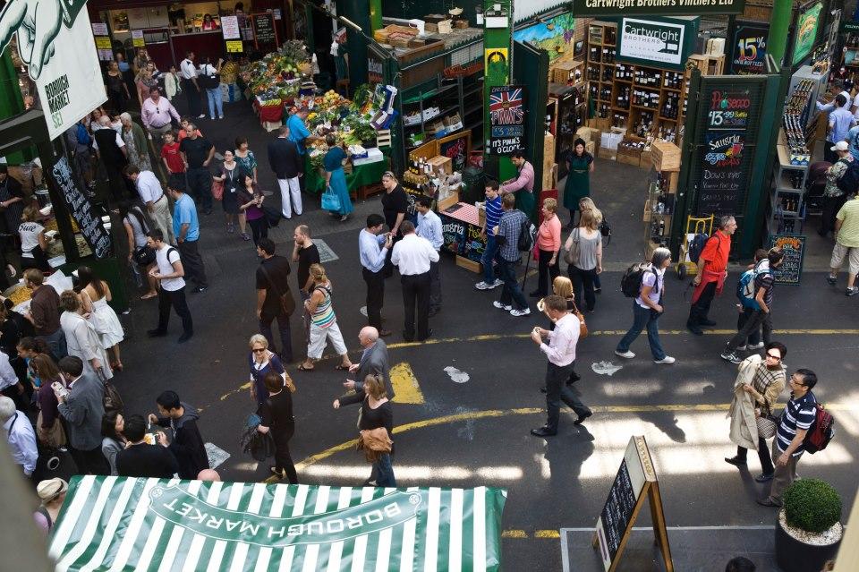 Market Goers in London