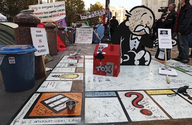 Occupy London Monopoly Street Art Installation