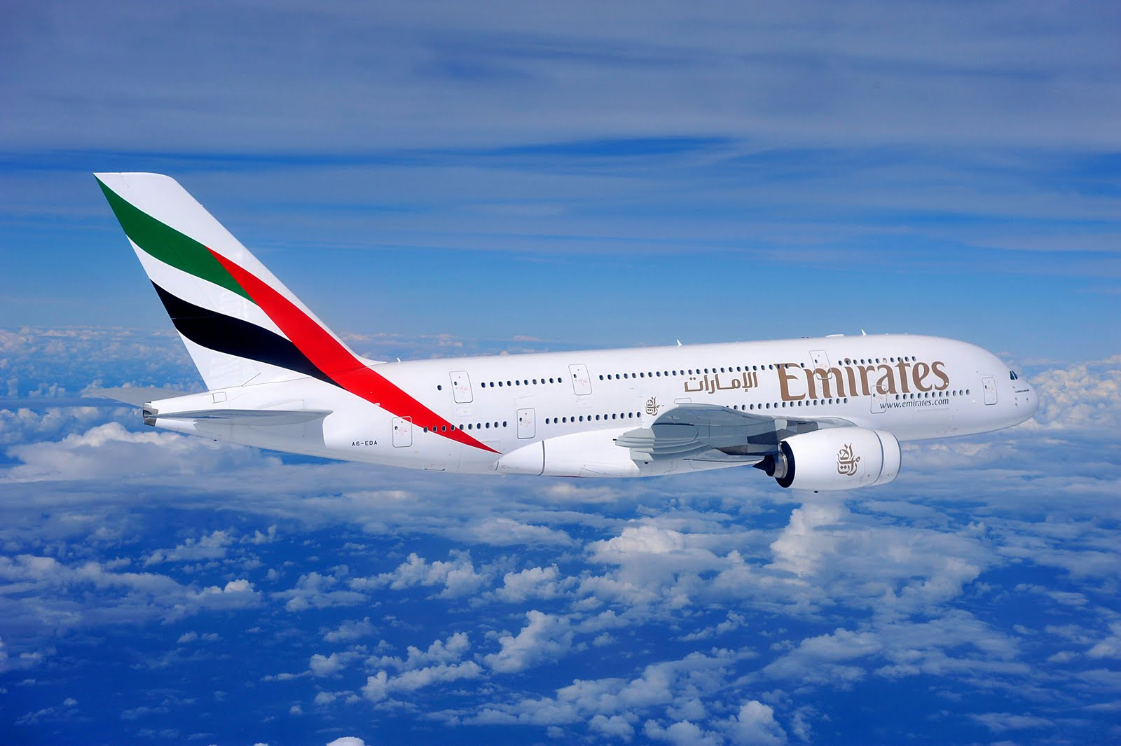 Emirates A380 aircraft in action