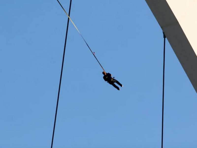 The Big Bungee Swing at Moses Mabhida Stadium in Durban