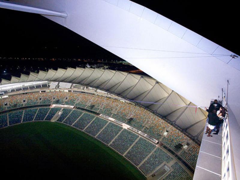 Swinging at Night at Big Rush Urban Adrenaline in Durban