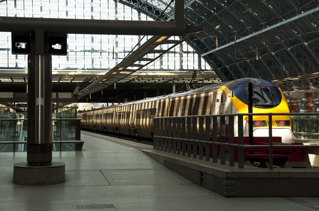 Eurostar train at St Pancras Station