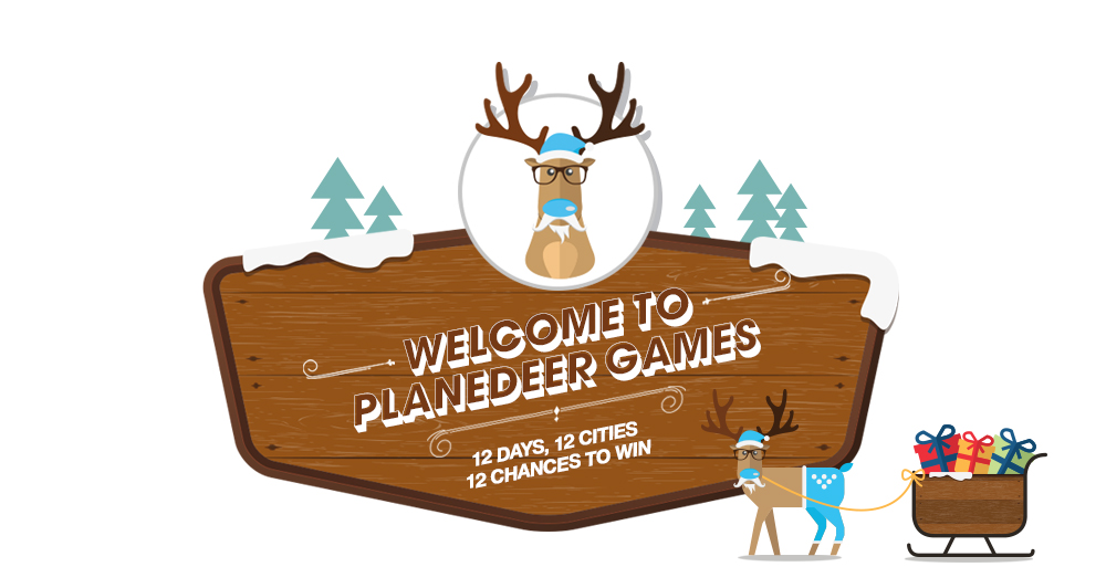 Welcome to planedeer games, 12 dasy 12 cities 12 chances to win