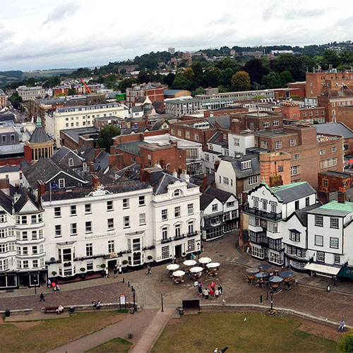 Book cheap flights to Exeter, England