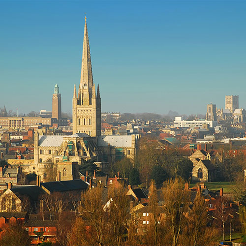 Book cheap flights to Norwich, England