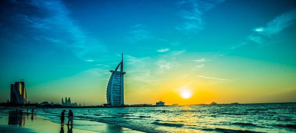 Dubai coast line