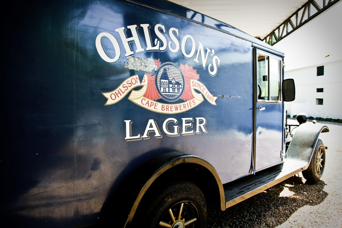 A vintage Ohlsson's Lager truck at the SAB Brewery in Newlands Cape Town