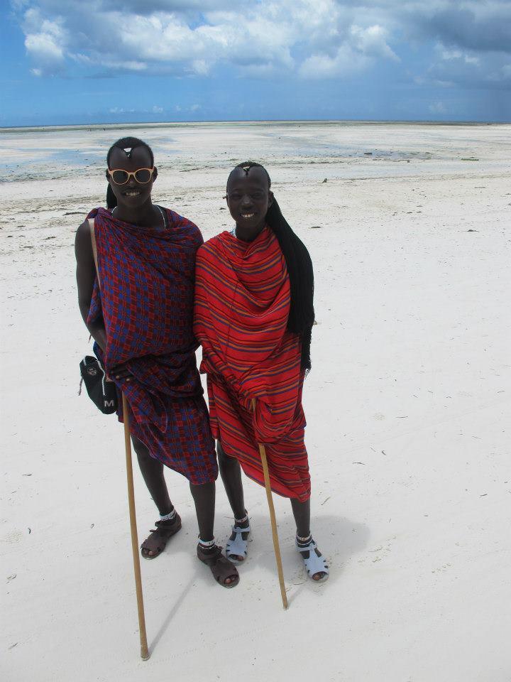Masai on the beach in Zanzibar