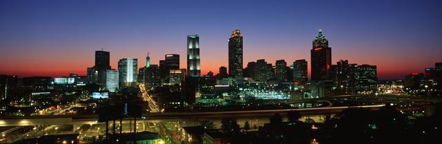 Atlanta City Skyline in Georgia USA