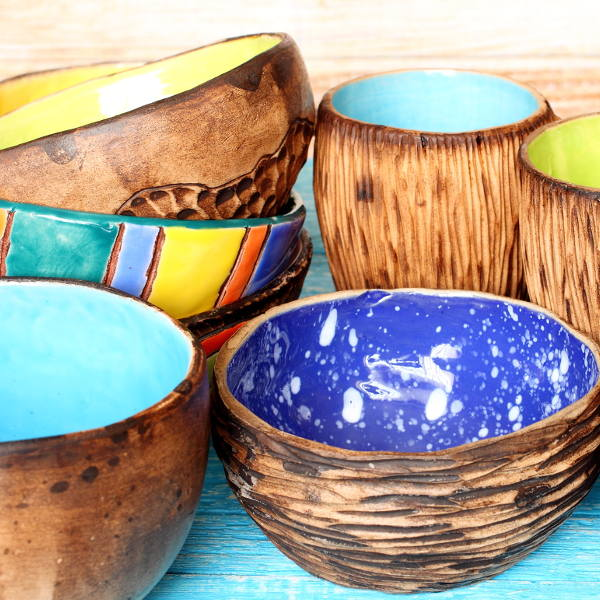 Handcrafted Pots With Ceramic Interior