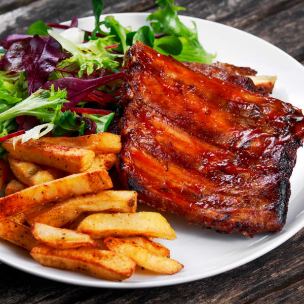 Marinated Ribs With Chips