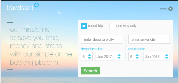 Custom deep link search panel