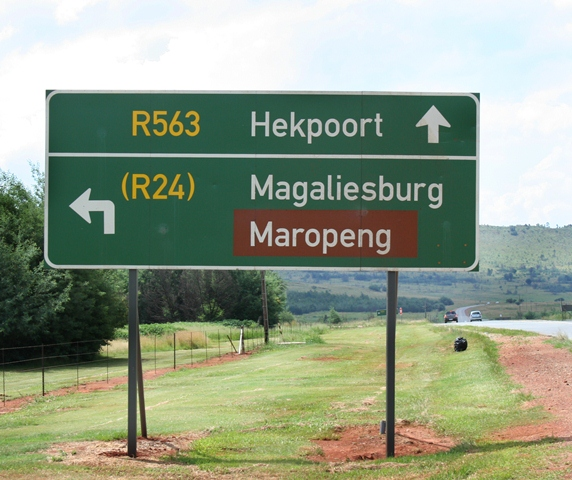 Roadsign in Cradle of Humankind